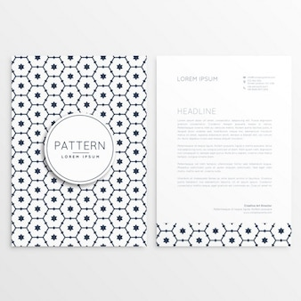 Business letterhead template with cute shapes
