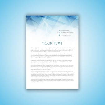 Business letterhead with polygonal design