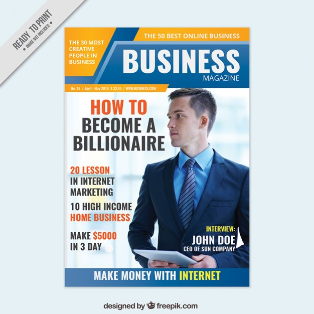 Business magazine cover design