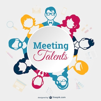 Business meeting vector template