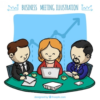 Business meeting with good results