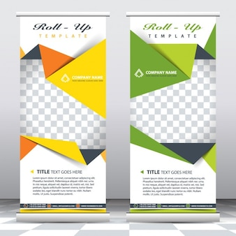 Business origami banner templates
