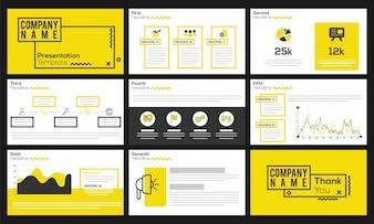 Infographicsを備えたビジネスプレゼンテーションテンプレート。