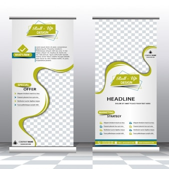 Business roll up banners