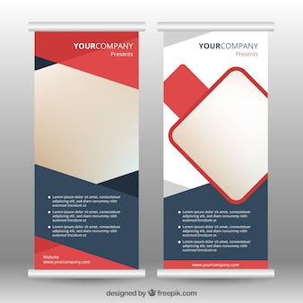 Business roll up with abstract design