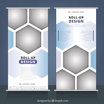 Бизнес-н-ролл с геометрическими фигурами
