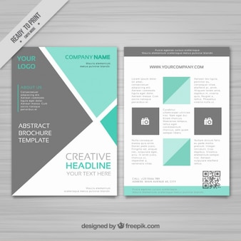 Business stationery with geometric shapes
