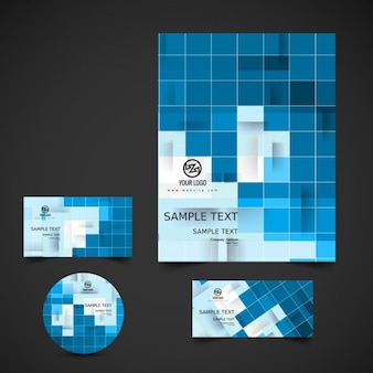 Business stationery with mosaic