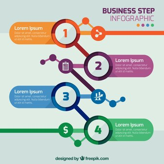 Business step infographic template