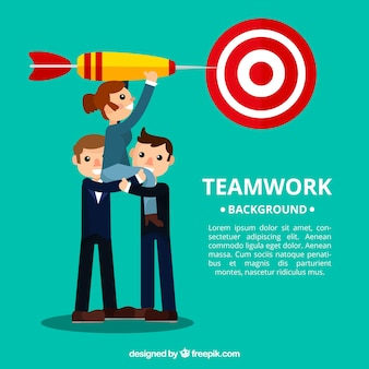 Business team background with a target