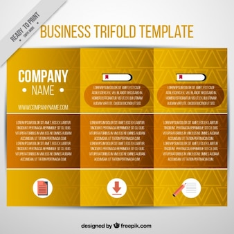 Business trifold template in geometric style
