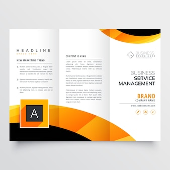 Business triptych with abstract shapes