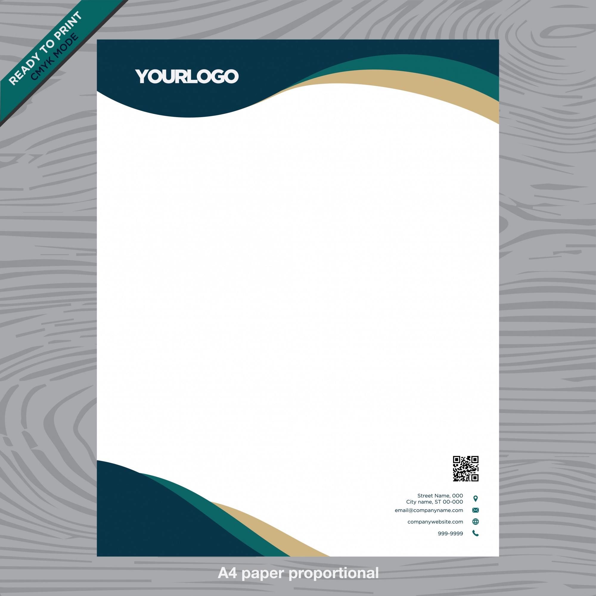 Business white paper with logo