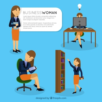 Business woman characters