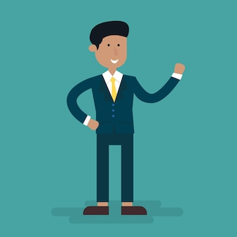Businessman character cartoon