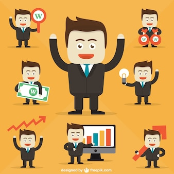 Businessman character cartoons