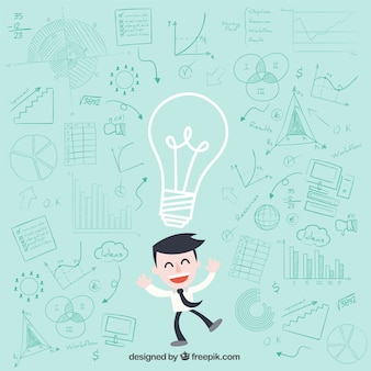 Businessman character having ideas