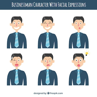 Businessman characters with tie