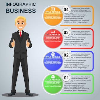 Businessman Infographic Template