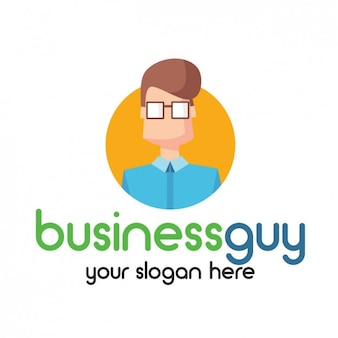 Businessman logo avatar