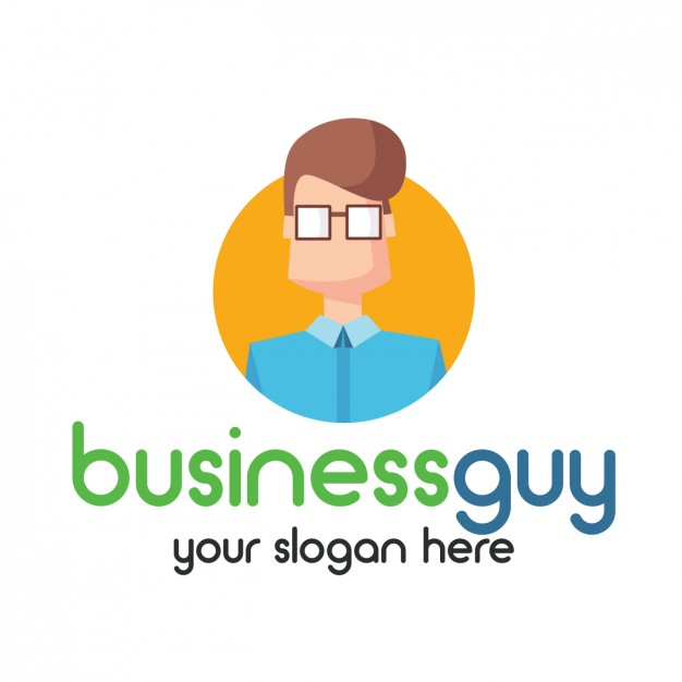 Businessman logo avatar