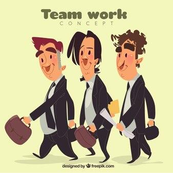 Businessman team work design