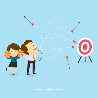 Businessman trying to hit the target