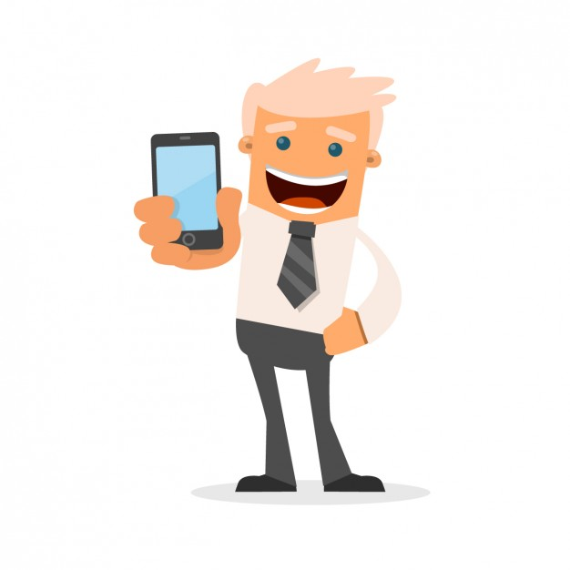 Businessman with his phone