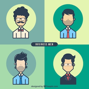 Businessmen avatars pack