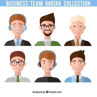 Businessmen team avatars