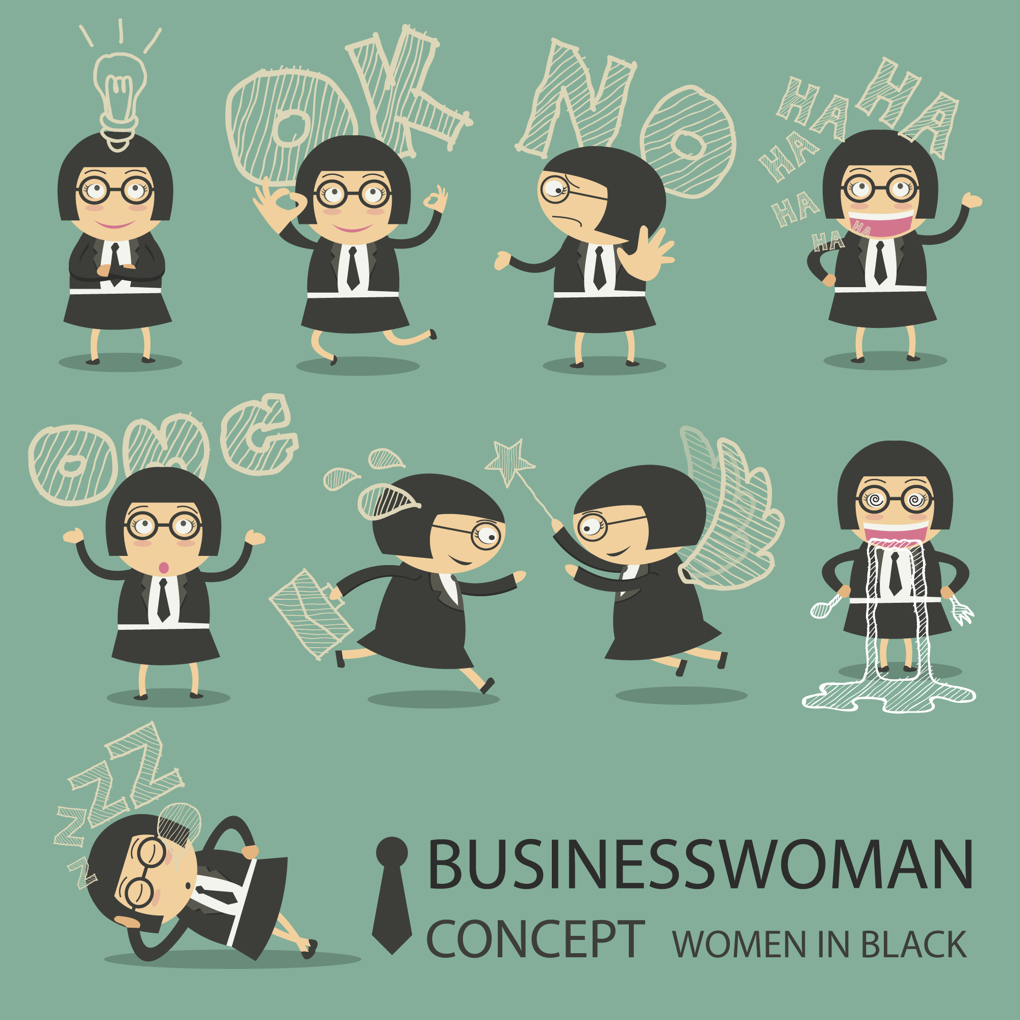 Businesswoman character collection