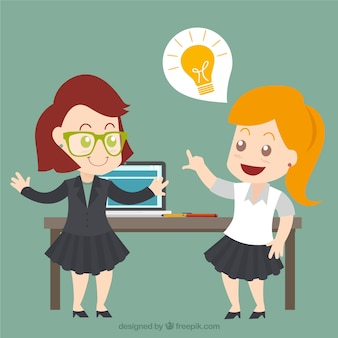 Businesswomen with a great idea