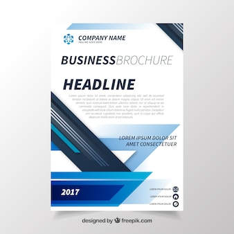 Businnes brochure with abstract style