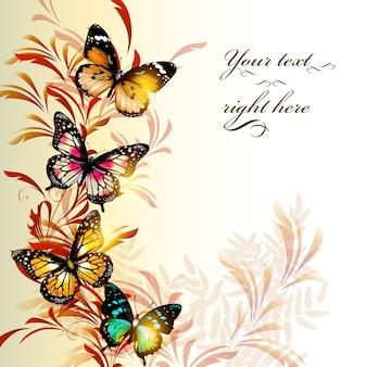 Butterflies background design