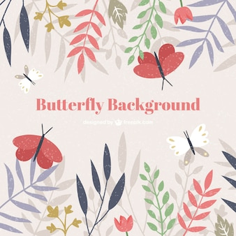 Butterfly background in vintage style