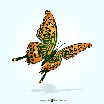 Butterfly flying vector