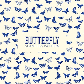 Butterfly pattern background