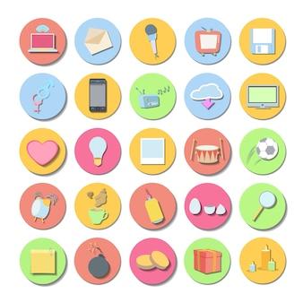 ボタン心臓ラベルインターネット広告