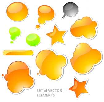 Buttons send sign stars graphic