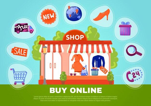 Buy online poster