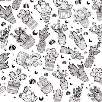 Cactus pattern background