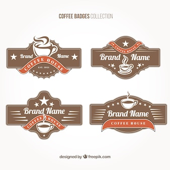 Cafe badges in vintage style