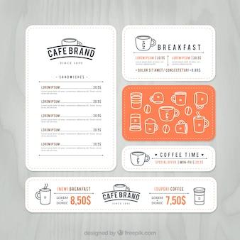 Cafe brand menu
