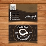 Cafe business card template