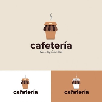 Cafeteria Logo in flat design