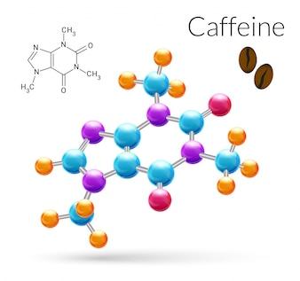 カフェイン分子3d