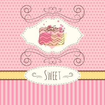 Cake background design