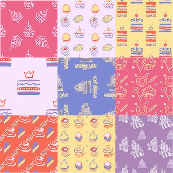Cakes pattern collection