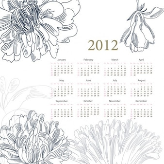 calendar  with flowers