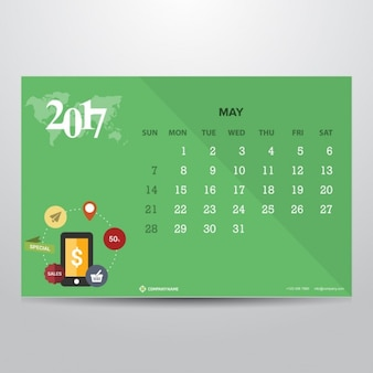 Calendar for may 2017